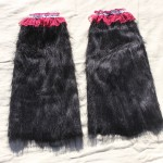 "Furry booties I made - ~12"" around, 17"" long and a tad stretchy (not much play due to the added lace though), these are meant to be worn just below the knee. $10 - Send payment via PayPal to megan@meganpru.com with the item name to purchase. Thank you!"
