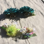 I made these decorated flower hair clips. They have metal hair clips on the backs. $5 each - Send payment via PayPal to megan@meganpru.com with the item name and which clip you'd like to purchase.